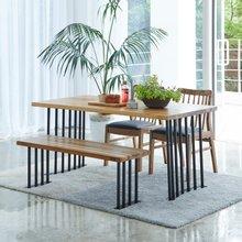 해찬솔 티크원목 4인용 원목식탁 세트1600B-as/의자포함/4인용식탁/원목식탁테이블/카페테이블