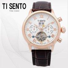 티센토(TISENTO) 남성손목시계(TS50081ROCH/가죽밴드/오토매틱)