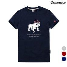 [앨빈클로]AST-3789 위트있는 불독 반팔 티셔츠