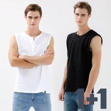 [1+1]남녀공용 캐주얼 베이직 민소매 티셔츠 2종