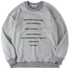 고스트리퍼블릭 남녀공용 오버핏 맨투맨 티셔츠 G2MT19-6WH