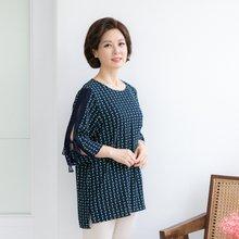 마담4060 엄마옷 다이아리본블라우스 QDBL905010