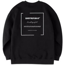 고스트리퍼블릭 남녀공용 오버핏 맨투맨 티셔츠 G2MT19-4WH