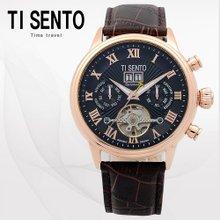 티센토(TISENTO) 남성손목시계(TS50081BROCH/가죽밴드/오토매틱)