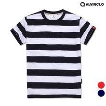 [앨빈클로]AST-3982 베이직 스트라이프 티셔츠