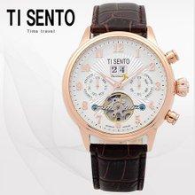 티센토(TISENTO) 남성손목시계(TS50071ROCH/가죽밴드/오토매틱)