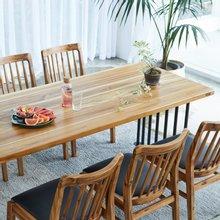 해찬솔 티크원목 6인 원목식탁 테이블 2000-as/원목책상/원목테이블/카페테이블