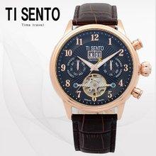 티센토(TISENTO) 남성손목시계(TS50071BROCH/가죽밴드/오토매틱)