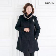 엄마옷 모슬린 품격있는 밍크퍼 알파카 코트 JC910406