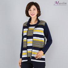 스트라이프 집업 세트 -TA8032307-모슬린 엄마옷 마담