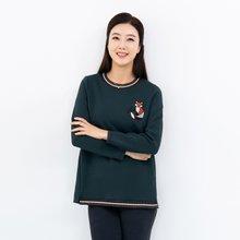마담4060 엄마옷 여우야뭐하니티셔츠-ZTE910103-