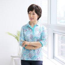 마담4060 엄마옷 풀잎사이카라티셔츠 QTE906038