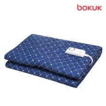 보국 도트 네이비 안심세탁 더블 전기요 BKB-8608D
