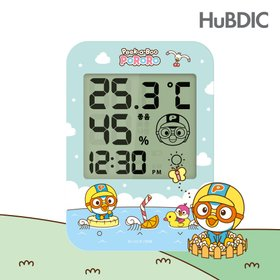 [사용중지][휴비딕]뽀로로 디지털 온습도계(화이트/옐로우/핑크) HT-2