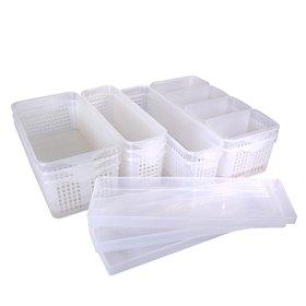 [실리쿡] (블랙홀같던 냉장고속 말끔정리!)[실리쿡]냉장고정리 트레이 6-8종 실속세트(3종 택1)