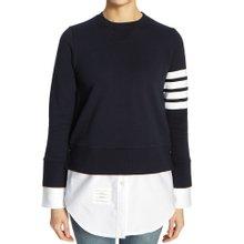[톰브라운] 클래식 사선 완장 FJT090A 00535 415 여자 셔츠 긴팔 맨투맨 티셔츠