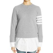[톰브라운] 클래식 사선 완장 FJT090A 00535 055 여자 셔츠 긴팔 맨투맨 티셔츠