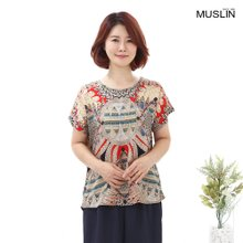 엄마옷 모슬린 인견 피카소 티셔츠 TS007011