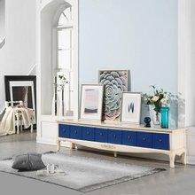 [리체갤러리] 수입빈티지엔틱 보나끄 빈티지 블루 8D 와이드 거실장