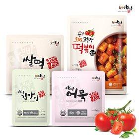 [아딸 떡볶이] 쌀떡8팩+떡볶이소스8팩+김말이2팩+어묵2팩 (총20팩)