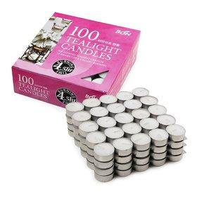 [홈앤하우스] [홈앤하우스] 티라이트 캔들 100개 멀티팩 4시간연소 BON Candle 무향 흰색 양초 외 택1