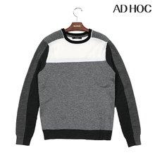 AD HOC 남성 블록 디테일 풀오버(HS1LK02)