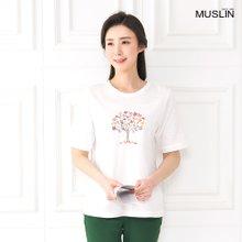 엄마옷 모슬린 나무꽃 생활한복 상의 KD003317