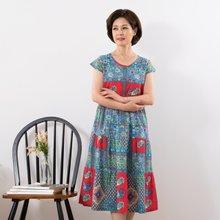 마담4060 엄마옷 시원한캡소매홈웨어 QHW907001