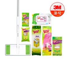 [3M]올터치 막대걸레+베이직 물60매+정전기 150매(고무장갑+정전기포30매증정!!)