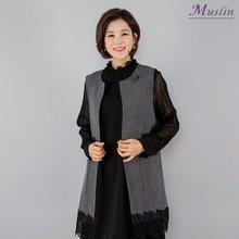 자수레이스 롱조끼 -VE8030937-모슬린 엄마옷 마담