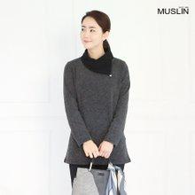 엄마옷 모슬린 진주 장식 터틀 티셔츠 TP810310