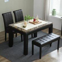 규수방가구버디 4인 대리석 식탁세트(식탁의자+벤치형)