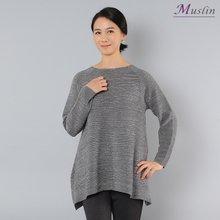펄A라인 니트티셔츠 -TS8030637-모슬린 엄마옷 마담