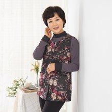 마담4060 엄마옷 꽃이활짝핀조끼-ZVE910005-