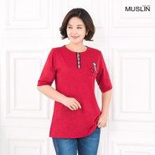 [엄마옷 모슬린] 별 포인트 라운드 티셔츠 TS003220