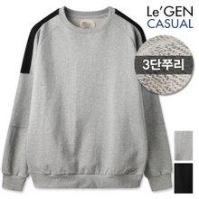 르젠 나그랑 소매절개 3단쭈리 맨투맨(LNMT894MO)