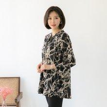 마담4060 엄마옷 진주소매롱블라우스 QBL904002