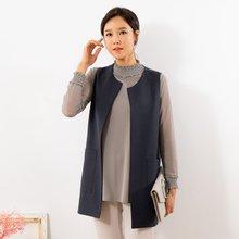 마담4060 엄마옷 멋스러운기본조끼 QVE908001