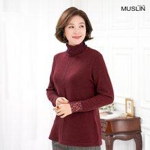 엄마옷 모슬린 라셀 레이스 목폴라 티셔츠 TP910342