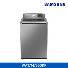 [삼성] 전자동 일반세탁기 WA17M7550KP (17kg/ 리얼 메탈 실버 )