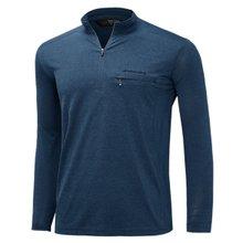 [파파브로]남성 국산 긴팔 카라 반집업 등산복 티셔츠 LM-A9-214-1-네이비