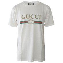 [구찌]19FW 457095 X5L89 9234 남녀공용 로고 티셔츠 화이트 오버핏