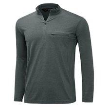 [파파브로]남성 국산 긴팔 카라 반집업 등산복 티셔츠 LM-A9-214-2-그레이