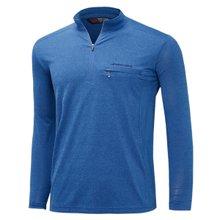 [파파브로]남성 국산 긴팔 카라 반집업 등산복 티셔츠 LM-A9-214-3-블루