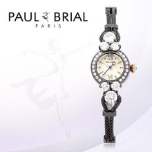 폴브리알(PAUL BRIAL) 여성시계(베르사이유/PB8001BK/메쉬밴드)