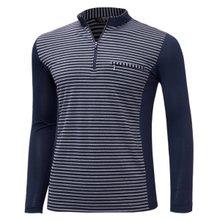[파파브로]남성 국산 스판 카라 줄무늬 등산복 티셔츠 LM-A9-215-1-네이비