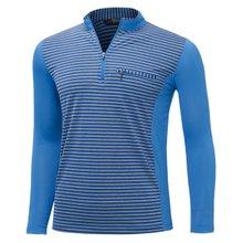[파파브로]남성 국산 스판 카라 줄무늬 등산복 티셔츠 LM-A9-215-2-블루