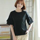 [웬디즈갤러리]얌얌 소매셔링 티셔츠 JTS003