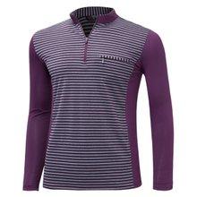 [파파브로]남성 국산 스판 카라 줄무늬 등산복 티셔츠 LM-A9-215-4-퍼플