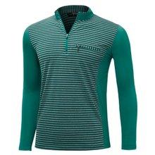 [파파브로]남성 국산 스판 카라 줄무늬 등산복 티셔츠 LM-A9-215-5-청록